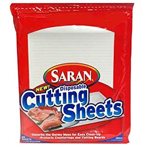 Saran Disposable Cutting Sheets, 20-pack