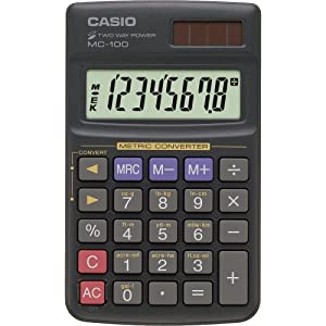 Amazon.com : Casio MC100 Solar Power Metric Converter ...