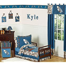 Tropical Hawaiian Toddler Bedding 5 pc Boys Surf Bedding Set