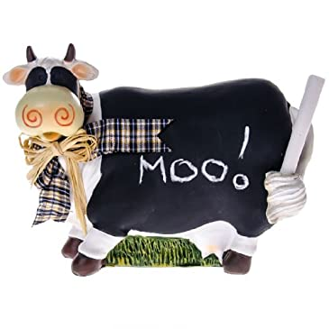 Cow Chalkboard Figurine