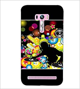 PrintDhaba DJ D-1421 Back Case Cover for ASUS ZENFONE SELFIE ZD551KL (Multi-Coloured)