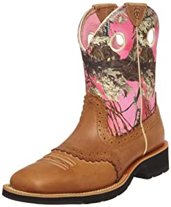 Ariat Women's Fatbaby Cowgirl Equestrian Boot,Cork Brown/ True Timber,8 M US