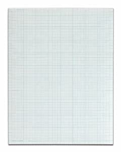 TOPS Cross Section Pad, 1 Pad, 8 Squares/Inch, Quadrille Rule, Letter Size, White, 50 Sheets/Pad, 1 Pad (35081)