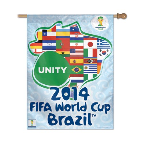 "USA Wholesaler - WIN-095291014 - FIFA World Cup 2014 Brazil Unity"" Vertical Flag """