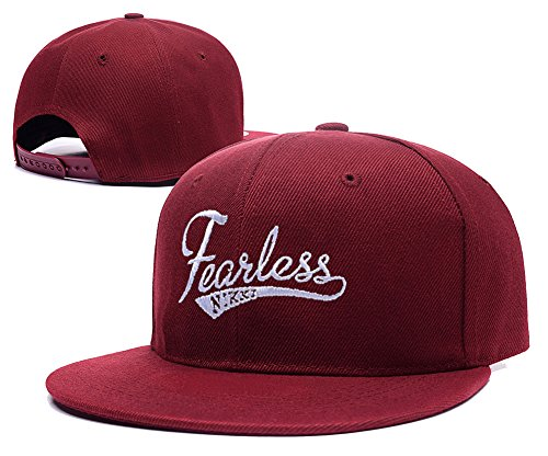 haihong-nikki-bella-fearless-logo-adjustable-snapback-embroidery-hats-caps-red