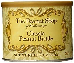 The Peanut Shop of Williamsburg Classic Peanut Brittle Tin, 9 Ounce
