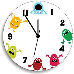 Bedroom Baby Nursery, Cute and Fun Colorful Monsters, Nursery Wall Art