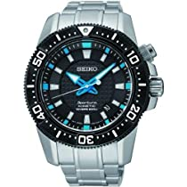 Seiko SKA561P1 Sportura Divers Black Dial Stainless steel Mens Watch.