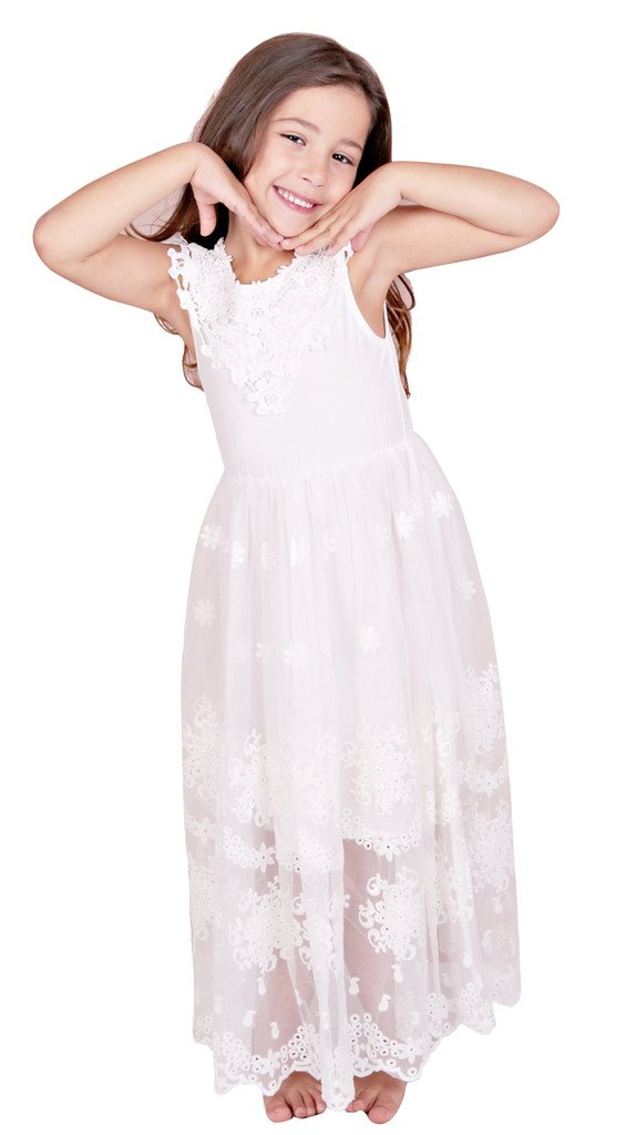 Bow Dream Flower Girl's Dress Vintage Lace 0