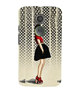 Stylish Girl Design Cute Fashion 3D Hard Polycarbonate Designer Back Case Cover for Motorola Moto X2 :: Motorola Moto X 2nd Gen :: Motorola Moto X 2014 :: Motorola Moto X+1