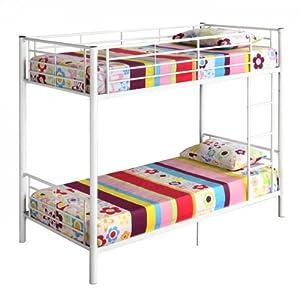 Walker Edison Twin-Over-Twin Bunk Bed, White by Walker Edison