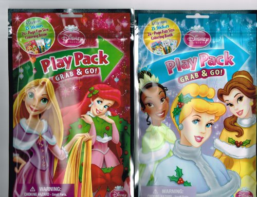 Disney Princess Christmas Play Pack Grab & Go - One Varied Design - 1