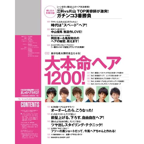 おしゃれヘアカタログ \\\'13-\\\'14 AUTUMN-WINTER FINEBOYS+Plus HAIR (HINODE MOOK 19)