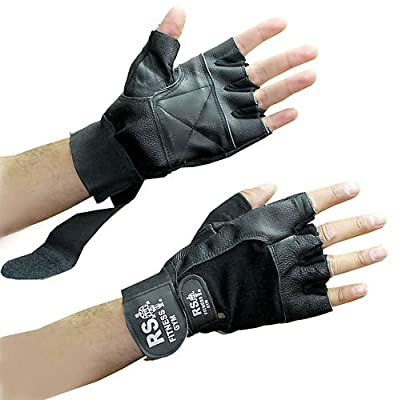 Real Leather Weight Lifting Body Building Cycling Bicycle Bike Gloves Mitts Gym- from SystemsEleven
