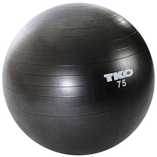 TKO Anti-Burst Fitness Ball (75cm) with Pump and Instruction Chart