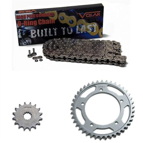 1974-1981 Yamaha XS650 O-Ring Chain and Sprocket Kit - Nickel 1999 2000 honda cbr600f4 o ring chain red