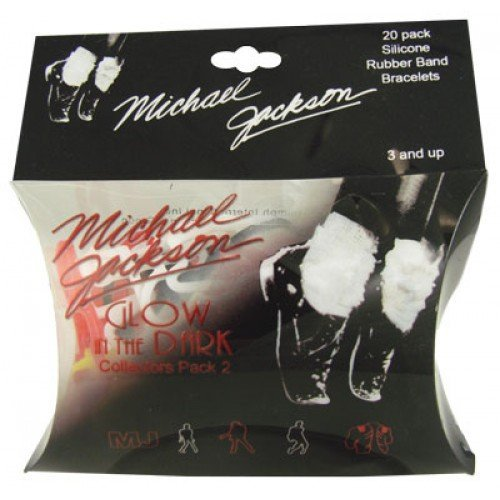 Glow in the Dark Michael Jackson Silly Bands 20ct Rubber Bandz Collection Pack 2 - 1
