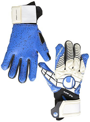 Guanti Uhlsport Eliminator Super Grip HN, Unisex, Handschuhe ELIMINATOR SUPERGRIP HN, weiß/Schwarz/energy blau, 9.5