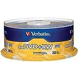 VERBATIM 94834 4.7GB 4x DVD+RWs, 30-ct Spindle