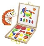 Viga Wooden Magnetic Picture Blocks Set