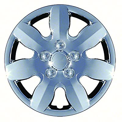 Aftermarket Wheel Covers; 15 Inch; Chrome Finish; Abs; 7 Spoke;