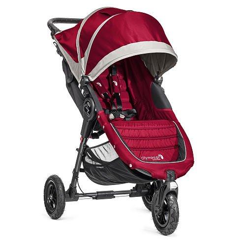 Baby Jogger City Mini Gt Single Stroller - Crimson/Gray