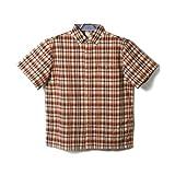 大きいサイズ メンズ (ビーアンドティークラブ) B&T CLUB 麻混チェック柄半袖シャツ