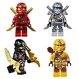 Lego Ninjago Set Of 4 Zukin Ninjas 2015 Zane, Skylor, Kai & Cole Lot #1
