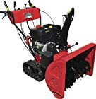 Gas Powered, 13hp 375cc, Electric Start Snow Blower Thrower Machine with Track Tires, Headlight
