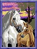 Ravensburger 28242 - Pferde im Sonnenuntergang - Malen nach Zahlen