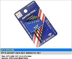 Dayton Micro Size Allen Key 7 pcs Set
