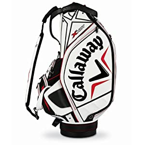 Callaway X Hot Staff Bag, White Black Red by Callaway