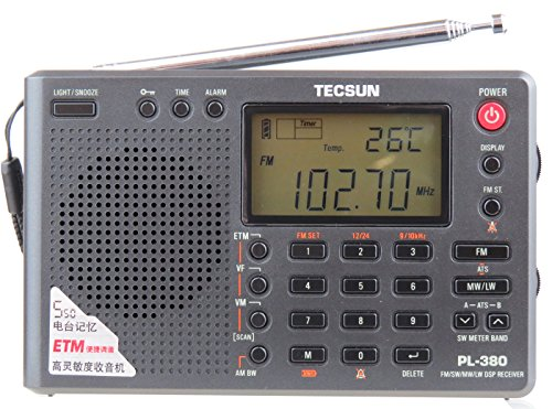 TECSUN PL-380 DSP FM stereo. MW. SW. LW. World Band PLL Radi
