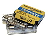 Box of (5) Bussman MDV-1/4 Amp @ 250 Volts or Less Slow Blowing Fuses with Pig Tail Leads