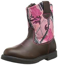 Northside Partner Cowboy Boot (Infant/Toddler/Little Kid), Pink Camo, 8 M US Toddler