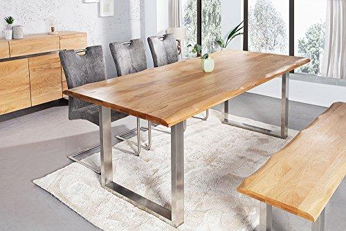 massiver baumstamm tisch genesis 180 cm eiche massivholz. Black Bedroom Furniture Sets. Home Design Ideas