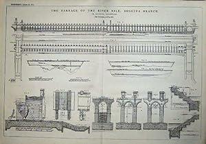 1876 Barrage River Nile Rosetta Branch Engineering