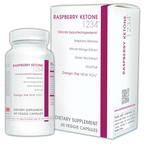 Creative Bioscience Raspberry Ketone 1234, 60 Count