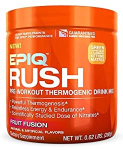 EPIQ - Rush Pre-Workout Thermogenic Drink Mix Fruit Fusion - 238 Grams