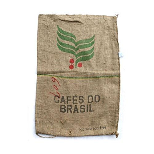 コーヒーの麻袋:ブラジル[装飾に!コーヒー生豆が入っていた本物の麻袋 70×90cm]
