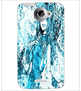 PrintDhaba Cute Girl D-2821 Back Case Cover for HTC ONE X (Multi-Coloured)