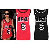 Womens Vest Top Tulisa Celebrity Inspired Varsity T Shirt Ladies Long Vest Tops