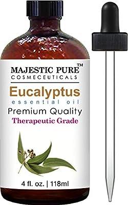 Majestic Pure Eucalyptus Essential Oil, 4 Fluid Ounce, Therapeutic Grade