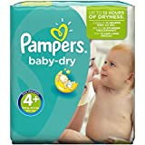 Pampers Windeln Baby Dry Gr. 4+ Maxi Plus 9-20 kg Monatsbox, 1er Pack (1 x 152 Stück)