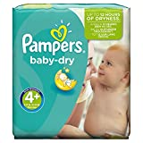 Pampers Baby Dry Couches Taille 4 Maxi 9 20 kg Pack économique 1 mois de consommation x152 couches