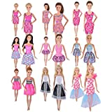 Ebuddy Handmade Ramdon Style Include 5 Sets Mini Clothes Dress For Barbie Doll