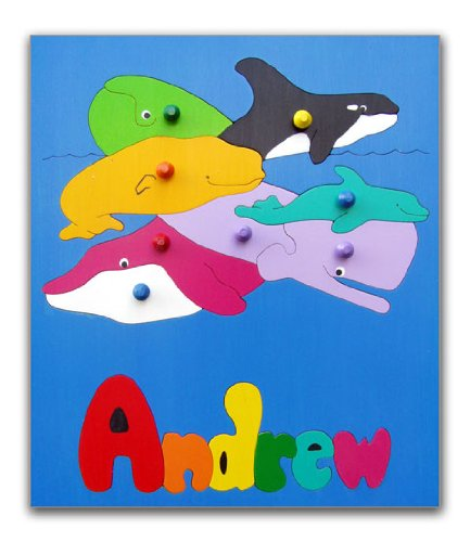 Cheap KidPuzzles Name Puzzle for Child Undersea Ocean Whales (B00564HLOS)