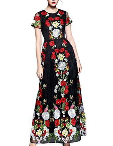 LovingDress-Womens-Dress-LaceSpandex-Embroidery-Sheath-Print-Long-Dress