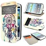 ivencase Painting Art Design PU Cuir Flip Shell Housse Coque Étui Case Cover Pour Samsung Galaxy S3 III i9300