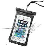Cellularline 防水ケース スマホ カメラ iPhone6 Plus 海 プール お風呂 IPX8 ブラック NEW VOYAGER【便利なミニ財布付】